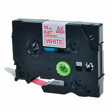 """1PK TZ 232 TZe-232 Red on White Label Tape For Brother P-Touch PT-H100 1/2"""" 12mm"""