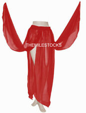 TMS Red 4 Petal Skirt Belly Dance Penal Gypsy 25 Colors
