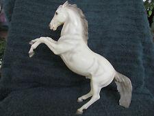 Breyer #30 Glossy Alabaster Fighting Stallion - Heavy Grey Shadings & Pinking!