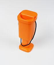 Handheld Orange Charity Money Collecting Box Fundraising Tin