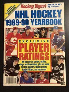 Hockey Digest  NHL HOCKEY 1989-90 Yearbook GRETZKY, LEMIEUX, YZERMAN, MESSIER