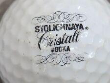 (1) STOLICHNAVA CRISTALL VODKA ALCOHOL LOGO GOLF BALL