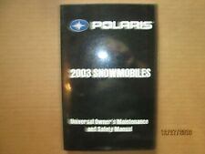 2003 Polaris Snowmobile Universal Owner's Safety and Maintenance Manual Original
