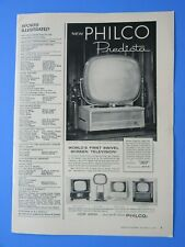 1958 PHICO Predicta  World's 1st Swivel Screen TV Original Print Ad 8.5 x 11""
