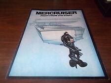 1977 Mercruiser Outboard Motors Sales Brochure