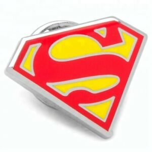 Superman Style Logo Metal Enamel Pin Badge / Brooch Insignia Emblem Cosplay