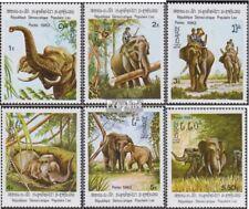 Laos 523-528 (complète edition) neuf avec gomme originale 1982 éléphants