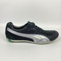 Puma Low Profile Flat Casual Shoes Sneakers Black Silver Teal Womens Size 7