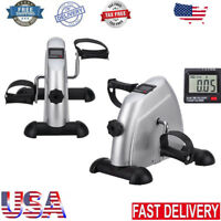 Mini Pedal Exerciser Cycle Bike Leg Arm Desk w/LCD Display Fitness Home Exercise