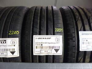 1x Sommerreifen DUNLOP 225/40 ZR18 92Y Sportmaxx Rt 2 DOT17 - 7.5mm