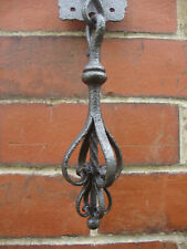 Superb antique wrought iron black smith made circa 1880 arts crafts bell pull