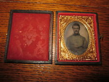 Antique Tintype Tin Type Photo Of An Army Soldier Civil War?