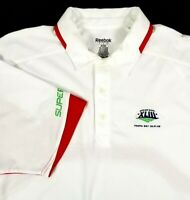 Super Bowl XLIII 43 in Tampa FL Reebok Polo Shirt Size L Large White & Red NFL