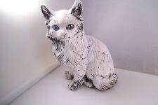 Unmarked White Cat Kitten Figurine Figure Plaster