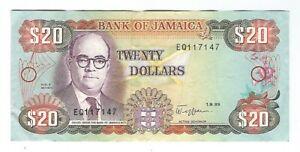 Jamaica - Twenty (20) Dollars,  1989