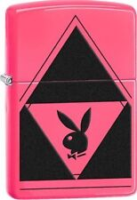 Zippo 29063, Playboy Bunny Logo, Neon Pink Finish Lighter, Full Size