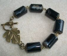 Large Agate Gemstone and  Antique Bronze Style, Bracelet