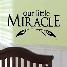 Huhome PVC Wall Stickers Wallpaper English Little Miracle baby room bedroom sofa