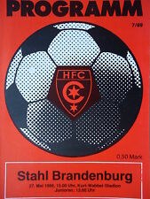 Programm 1988/89 HFC Chemie - Brandenburg