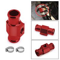 18mm Temperatura Dell'Acqua Sensore Adattatore Manometro Radiatore Raccordo Red