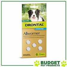 DRONTAL For Medium Dogs 3-10kg 5 tablets