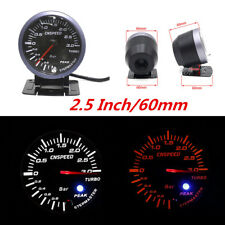 2.5'' 60mm Universal Car LED Turbo Boost Vacuum Press Pressure Gauge Bar Meter