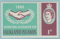 Falkland Islands 156 Mint Hinged OG* - NO FAULTS VERY FINE !