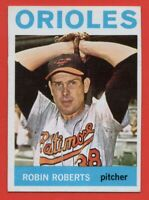 1964 Topps #285 Robin Roberts EX MISCUT TRIMMED Baltimore Orioles FREE SHIPPING