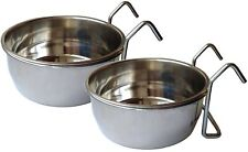 Ethical Market Stainless Steel Coop Cup for Dog Bird Food Water Bowl pack of 2