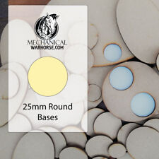 25MM MDF Bases for war gaming miniatures 40k D&D Infinity Age of Sigmar