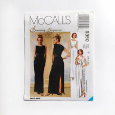 McCall's 9350 Evening Gown Lace or Mesh Side Cutouts Back Slit 16-20 Pattern FF