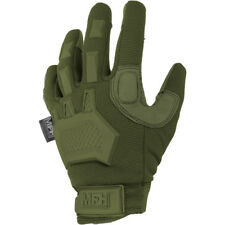 MFH Action Tactical Gloves Mens Knuckle Grip Paintball Airsoft Mittens OD Green
