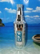 WKD SILVER MIRRORED LIGHT REFLECTING DISPLAY  BOTTLE AMAZING EFFECTS NEW