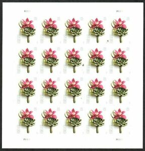 US - 2020 Contemporary Boutonniere (forever) #5457 full sheet - VF MNH