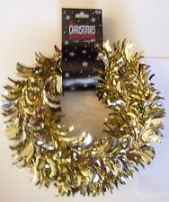 18 FOOT GOLD TINSEL WIRE GARLAND CHRISTMAS TREE HOLIDAY DECORATION