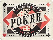 Poker Club Blechschild 20x15 cm Schild 26153 Pinup Pin Up Texas Hold´em Bar Pub