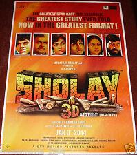 SHOLAY  3D (1975) BOLLYWOOD POSTER # 2  AMITABH BACHCHAN -DHARMENDRA