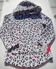 NWT Jumping Beans Girls Animal print Designs Hooded Fleece sz 4