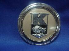 1947 1948 Kaiser Horn Button Badge Ornament Chrome Trim Moulding Mascot Emblem