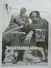 RARE MACKFRAMALAMA 90 MPH 1994 VINTAGE ORIGINAL RAP MUSIC STORE PROMO POSTER