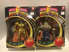 Bandai Power Rangers GOLDAR Evil Space Alien Action Figure & FINSTER 1993 w/ BOX