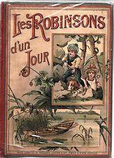 Les Robinsons d'un jour. F. MELCY. Emile Guérin 1890. Chromolithographies LEMAR