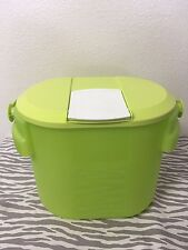 Tupperware Bucket Canister w/ cap and Handle 8.7qt Lime Green New