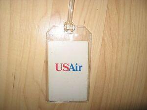 USAir US Air Luggage Tag - Vintage Airways Logo Playing Card Suitcase Name Tag