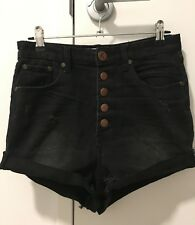 One Teaspoon Black Wash Lovers Shorts Ladies Size 24 Size 6