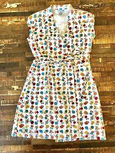 Papo d'Anjo 10 Years Girls Floral Cotton Wrap Ric Rac Trim Dress NWOT