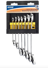Draper Reversible Ratcheting 7Pc Combination Spanner Set Hi Torq Tools 8-19mm