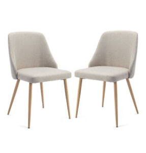 New Set Of 2 Occasional Chairs Grey 52w X 57d X 83h Mother's Day Gift