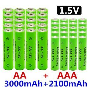 1.5V AA + AAA NI MH Rechargeable AA Battery AAA Alkaline 2100-3000mah For Torch