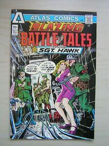 BLAZING BATTLE TALES #1 SGT. HAWK - ATLAS / SEABOARD 1975 (FN+) SGT ROCK / FURY